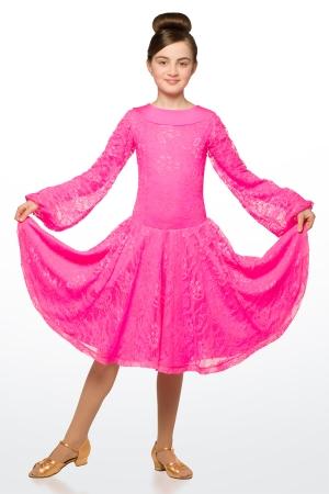 Бейсик 824 Жемчужина, розовый гипюр