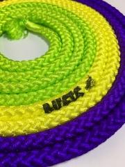 Скакалка М-280G  Violet x Yellow x Green (VIxYxG)