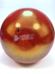 Мяч Pastorelli glitter (00033) Rossarancio 18,5 см