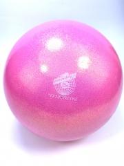 Мяч Pastorelli glitter (00039) Rosa Chiaro 18,5 см