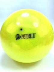 Мяч Pastorelli glitter (00025) Giallo 18,5 см