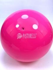 Мяч Pastorelli глянец (00011) Rosa Fluo 18,5 см
