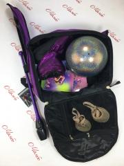 Рюкзак гимнастка с лентой, с карманами