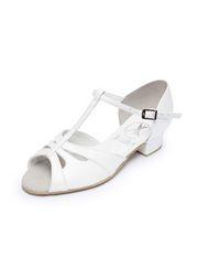 Блок-каблук, бабочка (306), белый