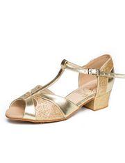 Блок-каблук, бабочка (306), золото