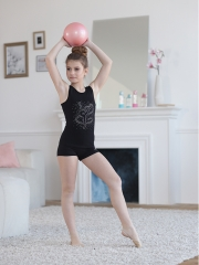 Майка гимнастка стразы россыпь